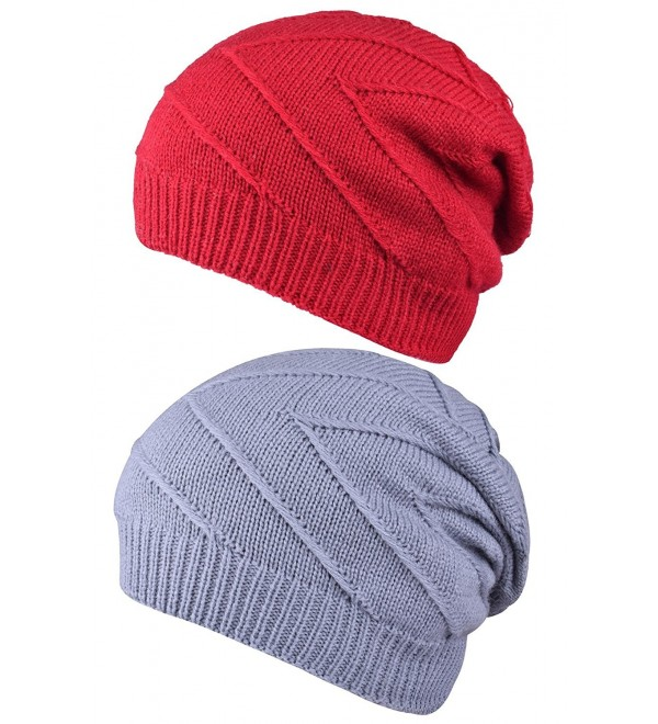 Winter Watch Caps Ski Stocking Hat Skull Knit Slouchy Beanies For Women Mens - Style One - CU186DGH2MR