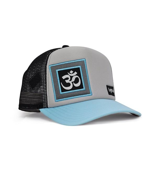 4983096ee4d9a9 bigtruck Original Yoga Mesh Snapback Trucker Hat- Grey/Black - C012E6U5UCJ