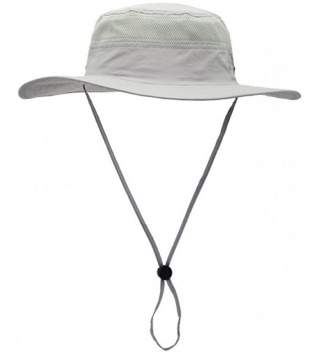 Camo Coll Outdoor UPF 50+ boonie Hat Summer Sun Caps - French Gray - C61836D8I5W
