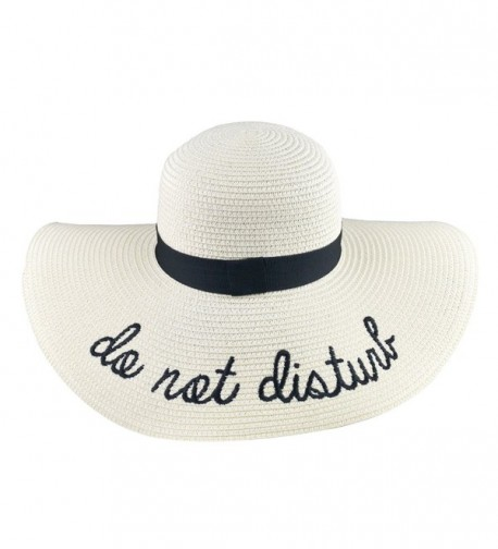 2ba651d4 DRESHOW Floppy Sun Hat For Women Large Brim Straw Beach Hats With Saying Roll  up Packable. DRESHOW Floppy Women Saying Packable