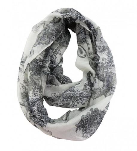 vintage paisley infinity scarf circle loop eternity scarf cowl - CF12N3B0P14