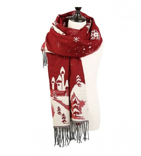 Christmas Reversible Oversized Thickened Pashmina in Fashion Scarves