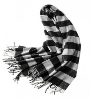 Women's Pashmina Long Scarf Thick Soft Winter Wool Wraps Lady Cotton Shawls Thin Spting Autumn Warm - Black - C3188XD8RDT