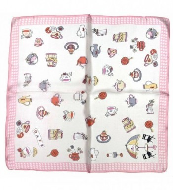 White Teacup Printed Small Square
