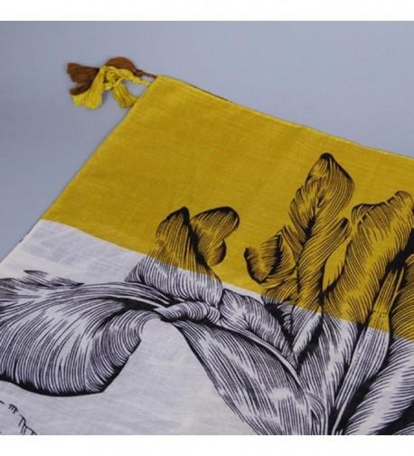 Fashion Printing Tassels Cotton Scarves