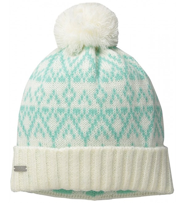 Coal Women's The Olive Geometric Pattern Beanie With Pom and Ribbed Cuff - Mint - C411VJ06R1X