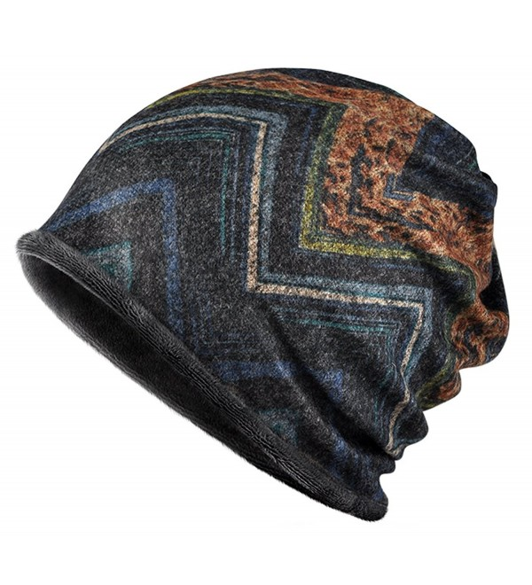 Jemis Knit Winter Baggy Sleep Turban Hat Headwear for Cancer Patients - Blue Grey - CT187E926X8