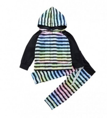 LUNIWEI Baby Boy Girl Clothes Long Sleeve Striped Hooded Romper Jumpsuit - Stripe Black - C4187I5U007