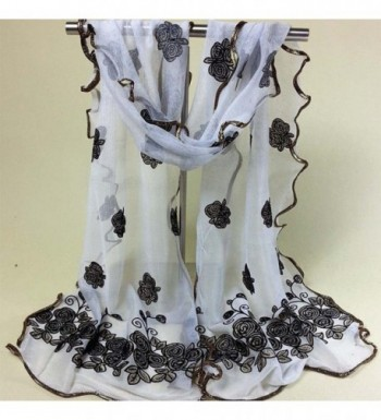 CreazyWomen Vintage Scarf Flower Scarves in Fashion Scarves