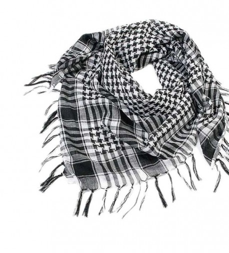 Lavany 1PC Women Men Scarf Shawl Wrap Pattern of Arab Shemagh Keffiyeh Palestine - Black - C2186G5S6LZ