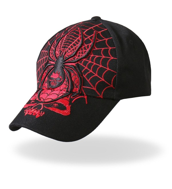 Hot Leathers Widow Ball Cap (Black) - Black - CZ118S5HK3V
