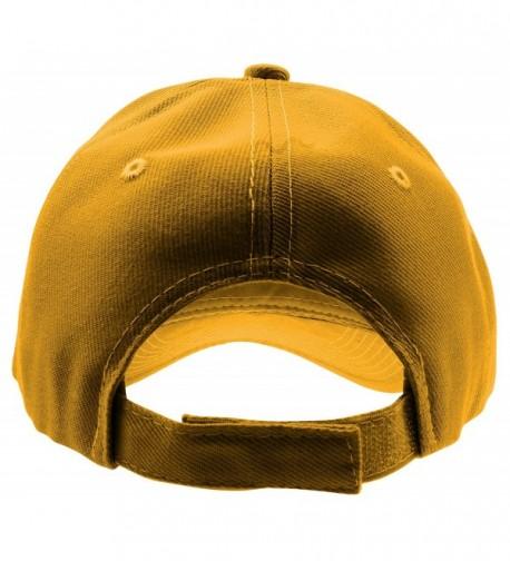 Enimay Baseball Adjustable Outdoor Mustard in Women's Baseball Caps