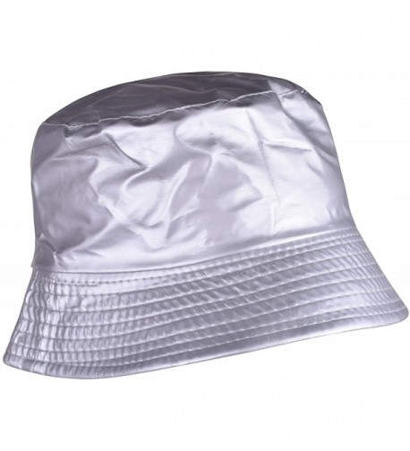 YJDS Womens Rain Hats Wide Brim Waterproof Packable Bucket Hat For Men and Women - Silver - C9185W3CGHR