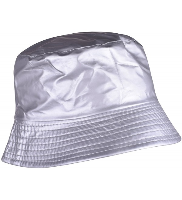 8ad411e1a Womens Rain Hats Wide Brim Waterproof Packable Bucket Hat For Men and Women  Silver C9185W3CGHR
