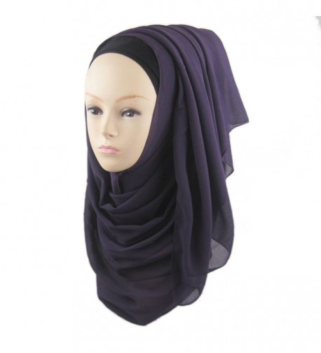 ManY Chiffon Jersey Hijab Scarf Wrap for Women Solid Color Scarf Lightweight - Style-014 - C0183OIILNX