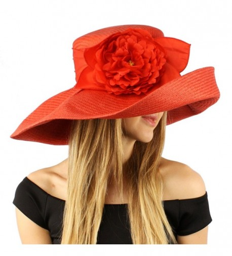 Summer Ribbon Floppy Hat Adjustable in Women's Sun Hats