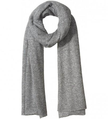 Collection XIIX Women's Oversized Shine Knitted Runway Wrap - Angora Grey - C612ICR8BN7