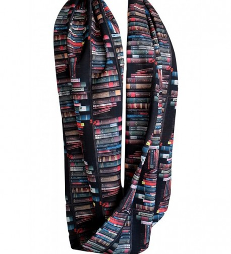 Etwoas Bookshelf Black Infinity Circle in Fashion Scarves