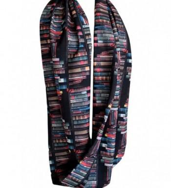 Etwoas Bookshelf Black Infinity Circle in Fashion Scarves