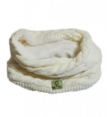 Lady Of Aran Snood With Cable Design And Fleece Lining- Natural Colour - CV12O85X4WQ