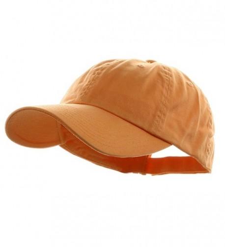 Low Profile Velcro Adjustable Cotton Twill Cap Peach One Size - CA1281GPP83