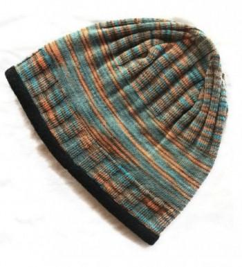 Alpacas of Montana Back Country Lined Alpaca Beanie Hat - Men & Women - by - Multi- Orange / Blue - C61895LE03D