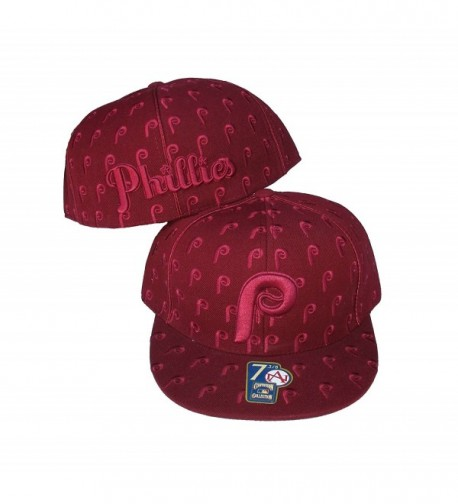 Philadelphia Phillies DICE Fitted Size 8 Cooperstown Collection Hat Cap Burgandy - CW183N9CUG4