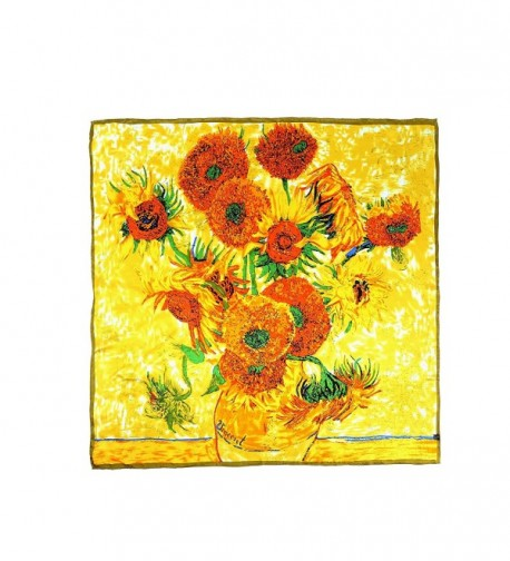 "Aqueena Charmeuse Paintings Fifteen Sunflowers - Van Gogh's ""vase With Fifteen Sunflowers"" - CW12CXQ0PZP"