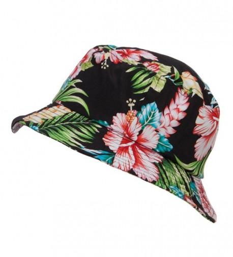 9c44ef74ad6 Floral Cotton Bucket Hat Black in Women s Bucket Hats. prev
