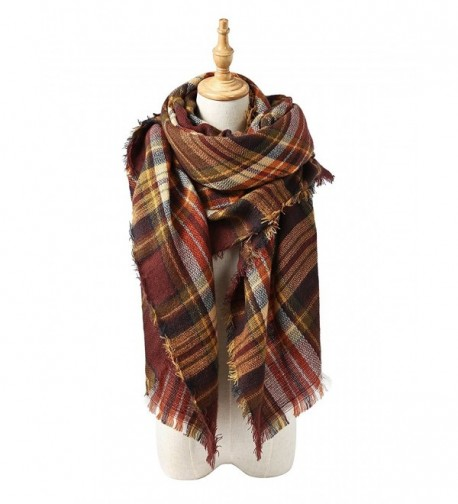 Trendy Blanket Stylish Checked Scarves - Coffee Warm - CT187G37HRA