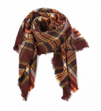 Trendy Blanket Stylish Checked Scarves in Fashion Scarves