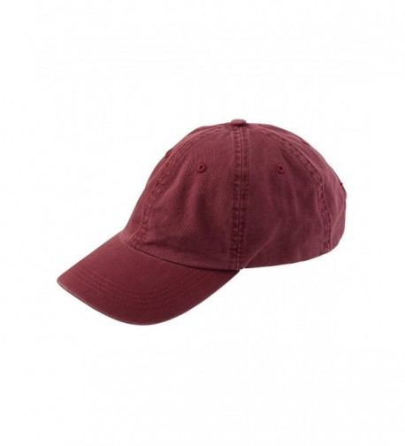 Alternative Men's Basic Chino Twill Cap - Maroon - CL114J4HAKH