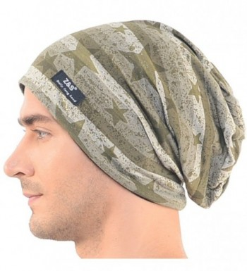 Mens Camouflage Thin Slouchy Beanie Cap Hat Oversize - Star Style-b106 - CO12HV53UEL