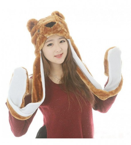 FakeFace Autumn Cartoon Earflap Costume - Brown Bear - CE128UTEM2L