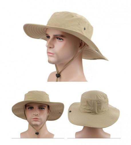Surblue Wide Brim Cowboy Hat Collapsible Hats Fishing/Golf Hat Sun Block UPF50+ - A Khaki - C912L20TEL9