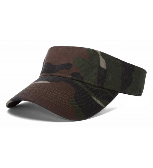 Woodland Camo Blank Adjustable Visor - CC11QIVXZI1