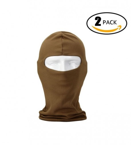 T1FE 1SFE Outdoor Ski Mask Premium Face Mask Hat Motorcycle Cycling Balaclava - Sand Coloured - C517Z30T6K2