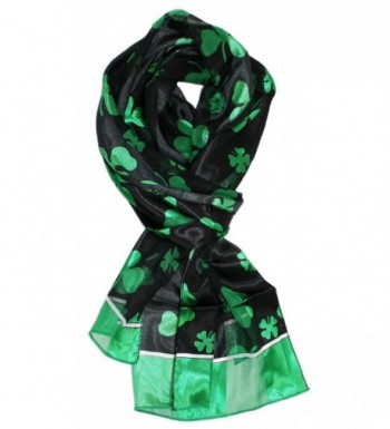 Ted and Jack - Luck of The Irish St. Patrick's Day Scarf - Black Border - CH17XE3G85X