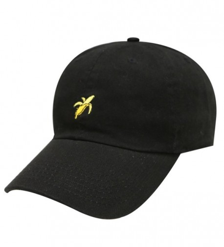 City Hunter C104 Banana Small Embroidery Cotton Baseball Caps 12 Colors - Black - CQ12HJQUGOT