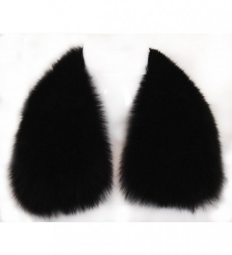 Women's Short Fox Real Fur Collar Scarf Wrap Shawl - CH12FR1VRA9