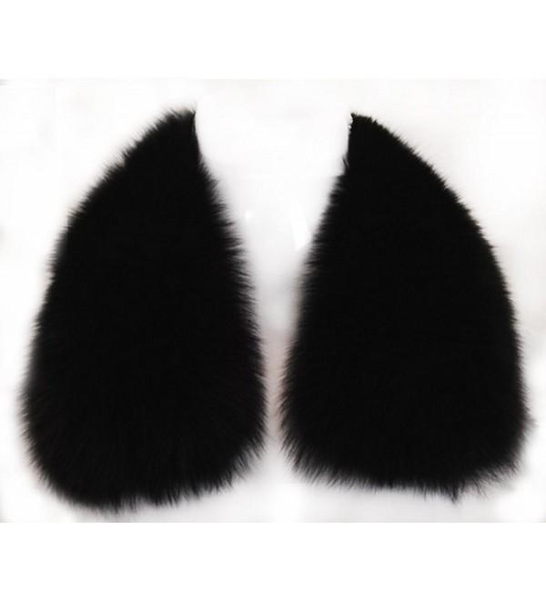 d173b6d7bd925 Women's Short Fox Real Fur Collar Scarf Wrap Shawl - CH12FR1VRA9