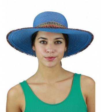 C C Multicolored Fringed Summer Floppy in Women's Sun Hats