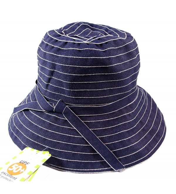 Jeanne Simmons Twill Travel Bucket Hat for Women - UPF 50+ UV Sun Protection (Blue Denim) - Blue Denim - CI11C8UV3KN