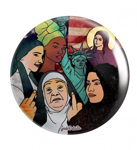 "Geek Details Pro America 2.25"" Pinback Button - American Women in Headscarves - CL12O7Y1M8W"