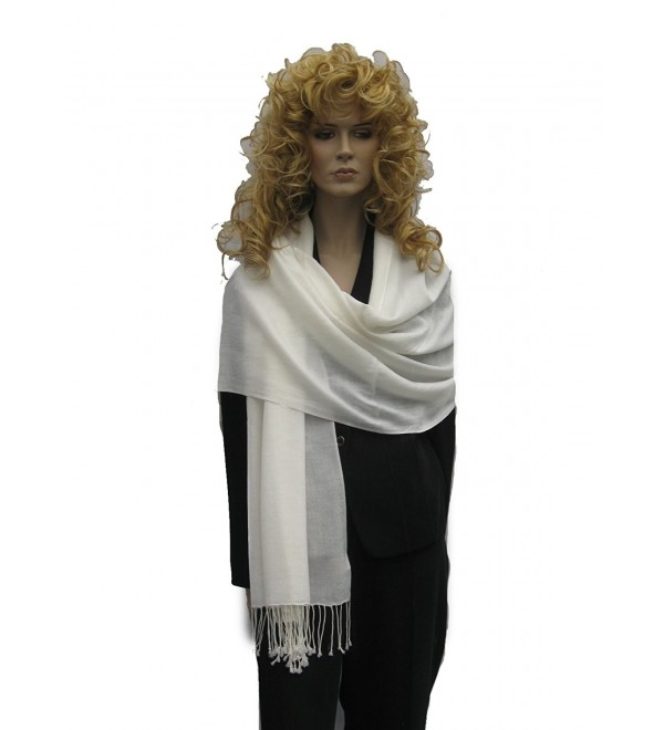 Fancy Pashmina shawl from Cashmere Pashmina Group - Ivory - C7112GWG8MV