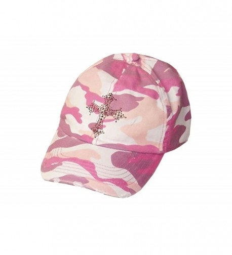 Copper Cross Vintage Pink Camo Baseball Hat Visor - CR113S66P1D