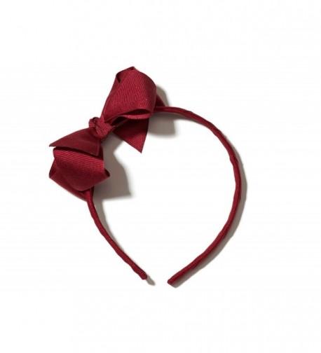 Anna Belen Grosgrain Headband Burgundy
