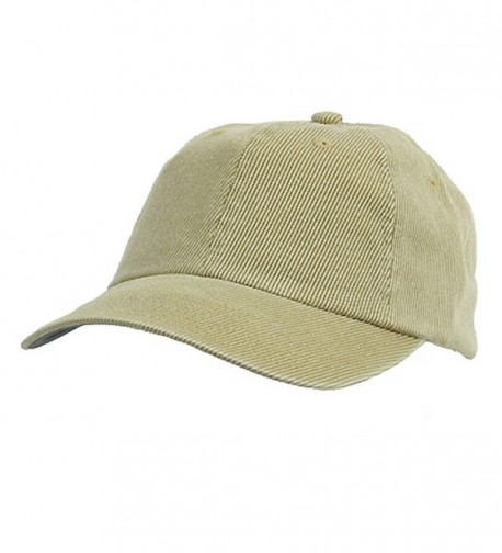 Corduroy Cotton Washed Cap-Khaki W32S56D - CD111QREQ8Z