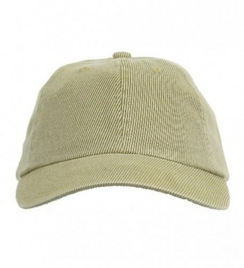 Corduroy Cotton Washed Cap Khaki W32S56D