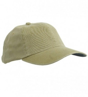 Corduroy Cotton Washed Cap Khaki W32S56D in Women's Baseball Caps